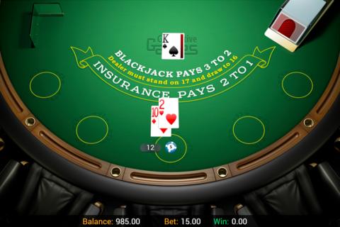 single hand blackjack connective games online