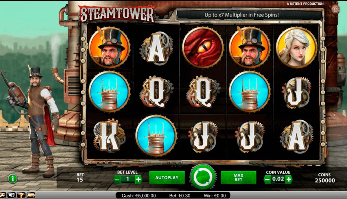 steam tower netent pacanele