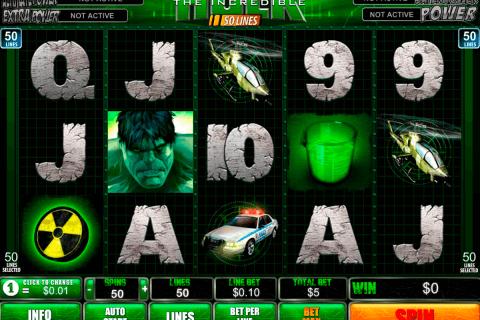 the incredible hulk  lines playtech pacanele