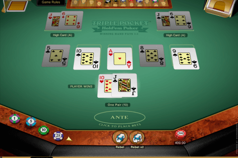 triple pocket holdem poker microgaming poker aparate
