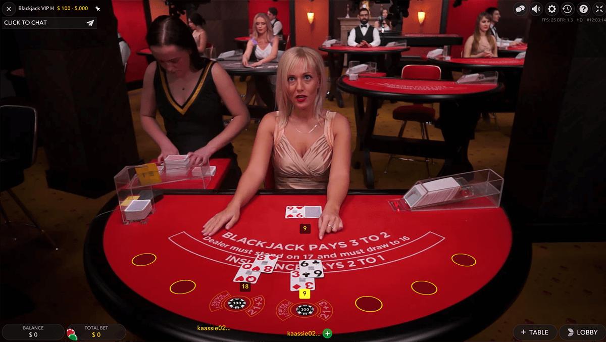 vip live blackjack evolution gaming online