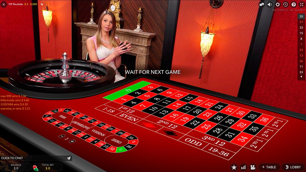 vip live roulette evolution gaming ruleta