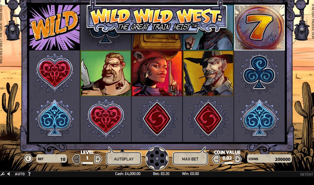 wild wild west the great train heist netent pacanele